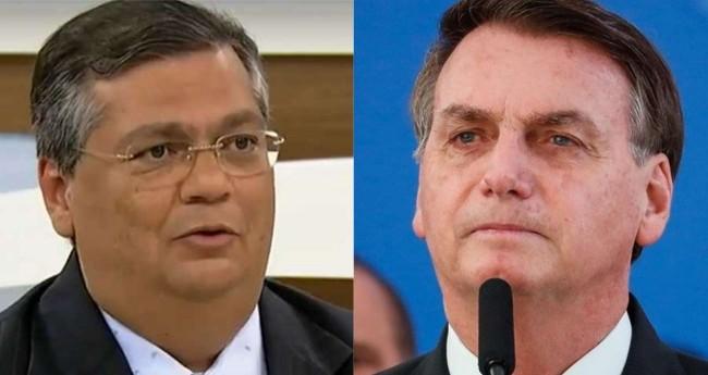 Fotomontagem: Flávio Dino e Jair Bolsonaro