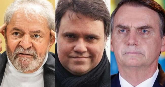Fotomontagem: Lula, Rodrigo Rodrigues e Jair Bolsonaro