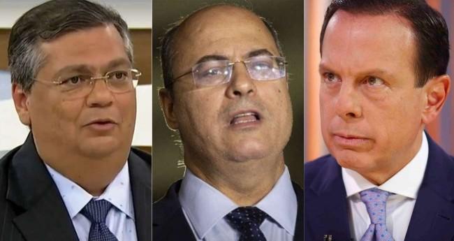 Fotomontagem: Flávio Dino, Wilson Witzel e João Doria