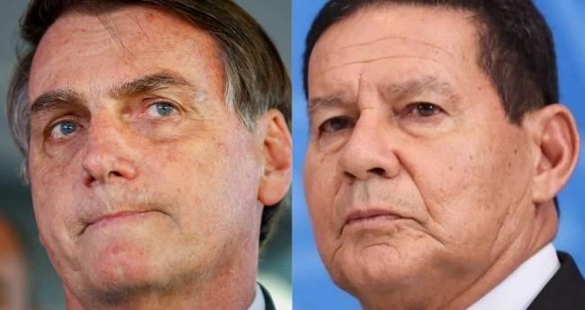 Fotomontagem: Jair Bolsonaro e general Hamilton Mourão