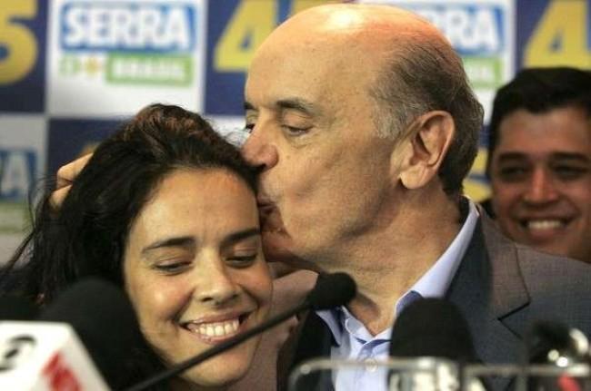 José Serra e Verônica