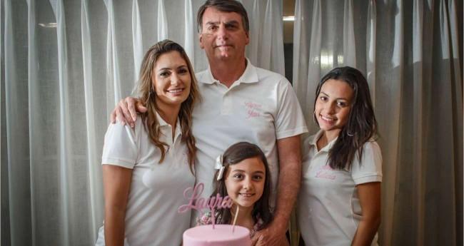Jair Bolsonaro e sua família