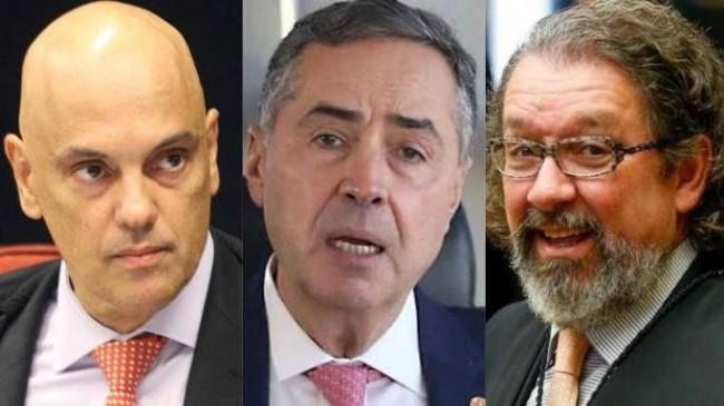 Fotomontagem: Moraes, Barroso e Kakay