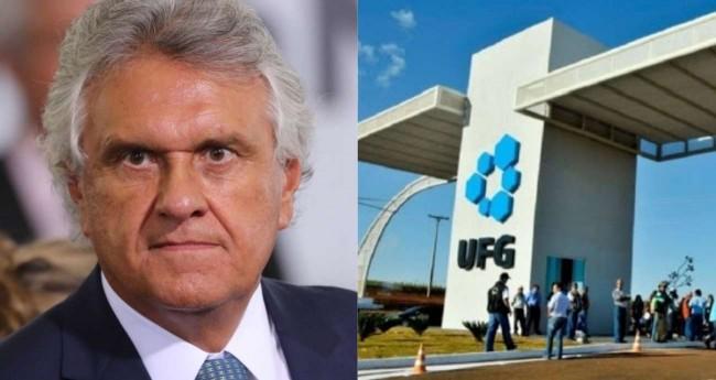 Fotomontagem: Governador de Goiás, Ronaldo Caiado