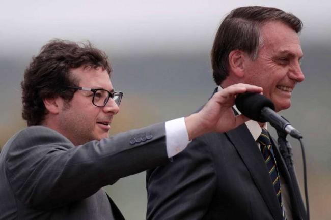 Fábio Wajngarten e Jair Bolsonaro