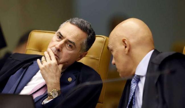Luis Roberto Barroso e Alexandre de Moraes
