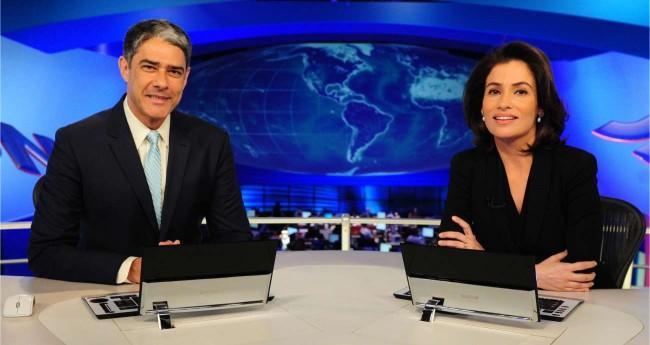 William Bonner e Renata Vasconcelos