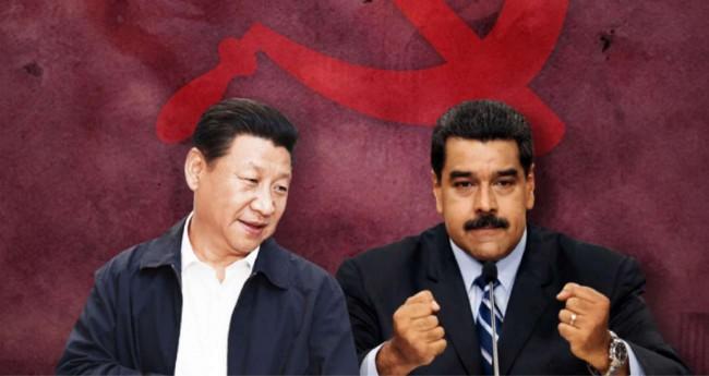 Fotomontagem: Xi Jinping e Nicolas Maduro