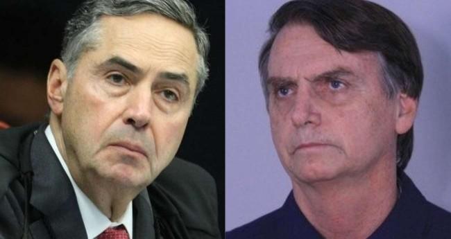 Fotomontagem: Luís Roberto Barroso e Jair Bolsonaro