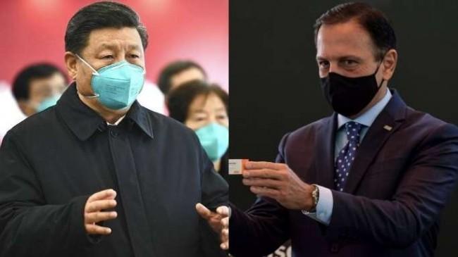 Fotomontagem: Xi Jinping e João Dória