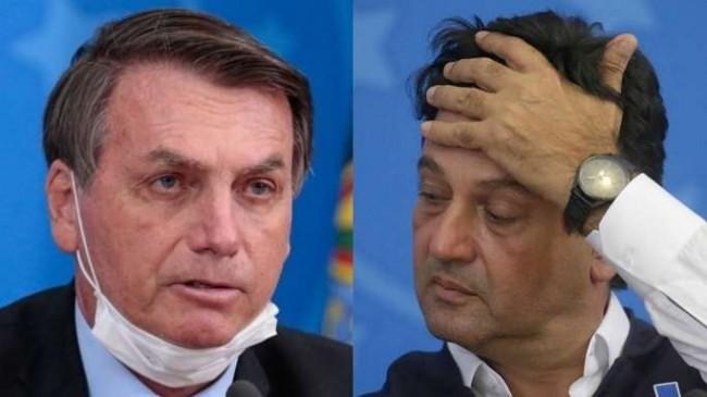 Fotomontagem: Jair Bolsonaro e Luiz Henrique Mandetta