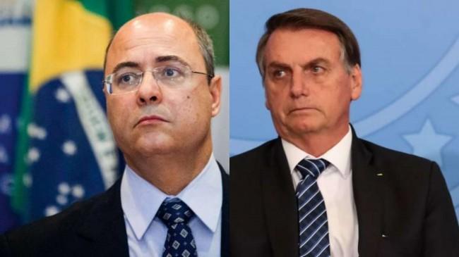 Fotomontagem: Wilson Witzel e Jair Bolsonaro