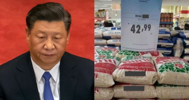 Fotomontagem: Xi Jinping