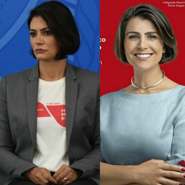 Michelle Bolsonaro e Manuela Dávila