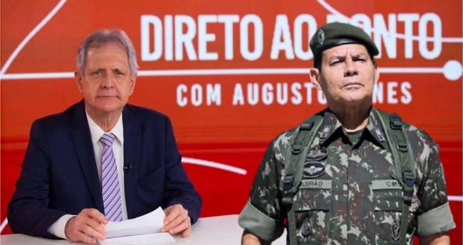 Fotomontagem: Augusto Nunes e General Hamilton Mourão