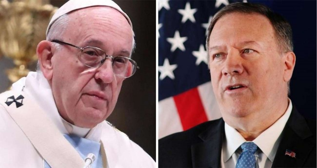 Papa Francisco e Mike Pompeo