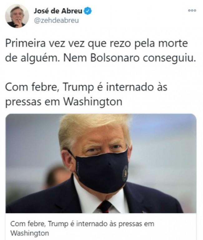 Publicação de José de Abreu no Twitter