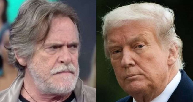 Fotomontagem: José de Abreu e Donald Trump