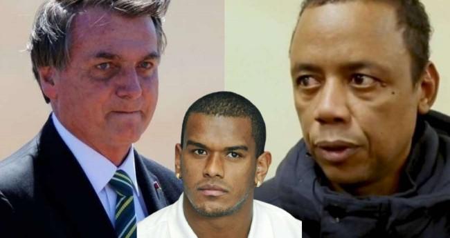 Fotomontagem: Jair Bolsonaro, jogador Fernando e motorista Robson