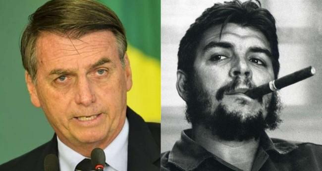 Fotomontagem: Jair Bolsonaro e Ernesto Che Guevara