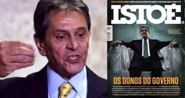 Fotomontagem: Roberto Jefferson/ capa da revista Istoé