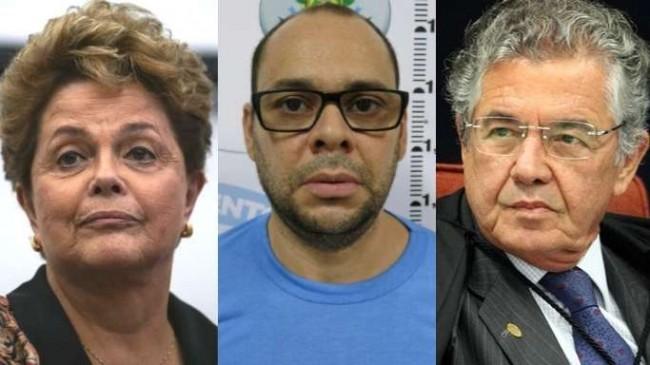 Fotomontagem: Dilma, Bi da Baixada e Marco Aurélio