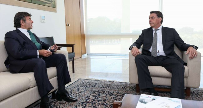 Foto Ilustrativa - Luiz Fux e Jair Bolsonaro