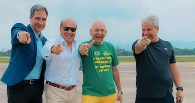 Lacombe, Marcelo de Carvalho, Luciano Hang e Sikêra Jr.