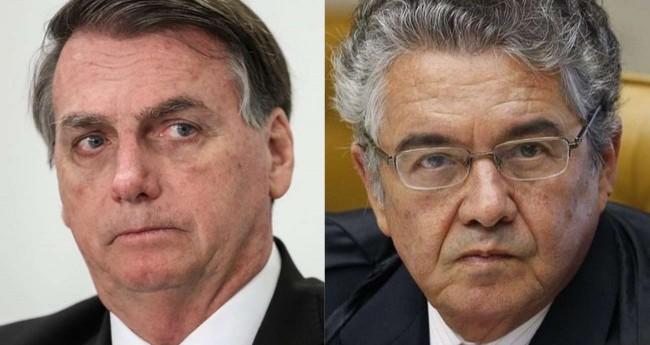 Fotomontagem: Jair Bolsonaro e Marco Aurélio de Mello