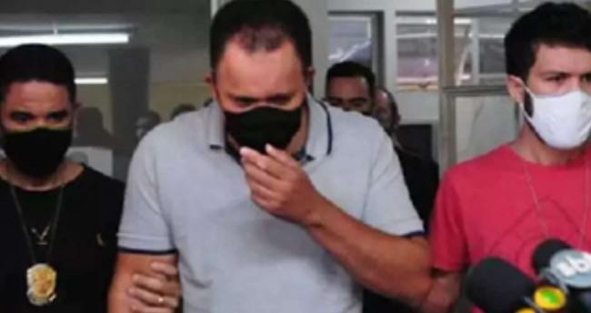 Ronaldo Batista sendo preso