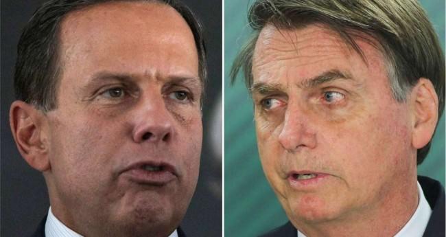 Fotomontagem: João Doria e Jair Bolsonaro