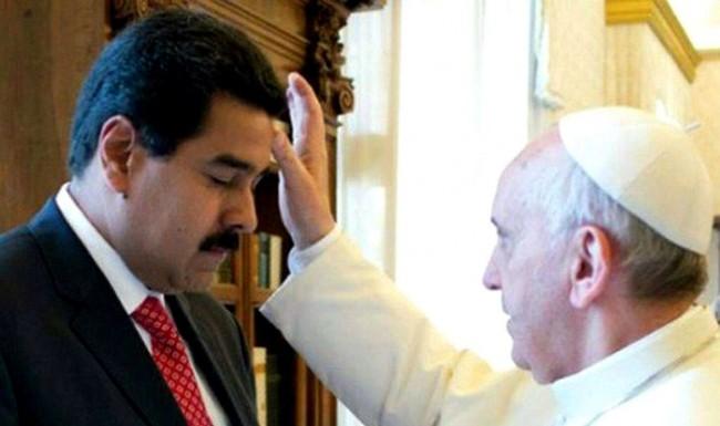 Nicolas Maduro e Papa Francisco
