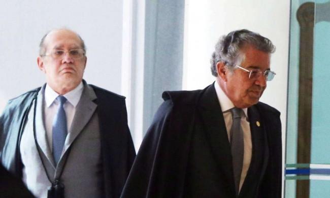 Gilmar Mendes e Marco Aurélio Mello - Reprodução internet