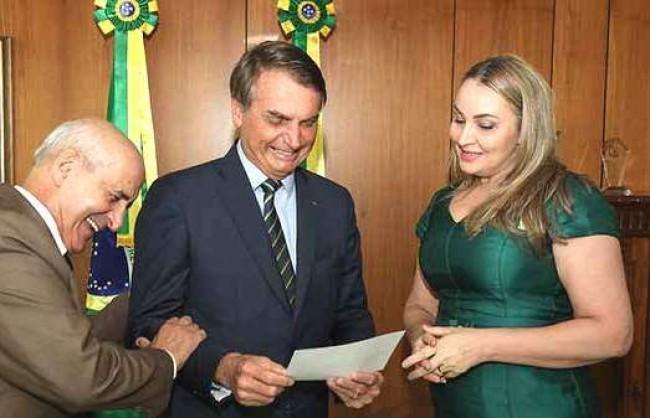 General Ramos, Daniela Reinehr e Jair Bolsonaro - Foto: Marcos Corrêa/Presidência da República