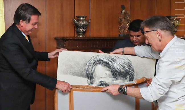 Jair Bolsonaro e Marco Angeli