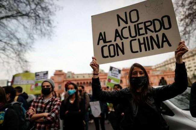 Argentinos protestam contra o governo de Alberto Fernández - Reprodução internet