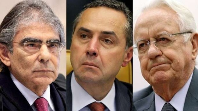 Ayres Marques, Luis Roberto Barroso e Carlos Velloso