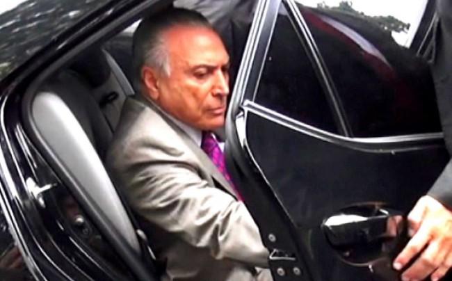 Michel Temer quando foi preso em março de 2019.