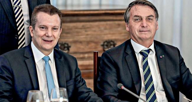 Celso Russomanno e Jair Bolsonaro