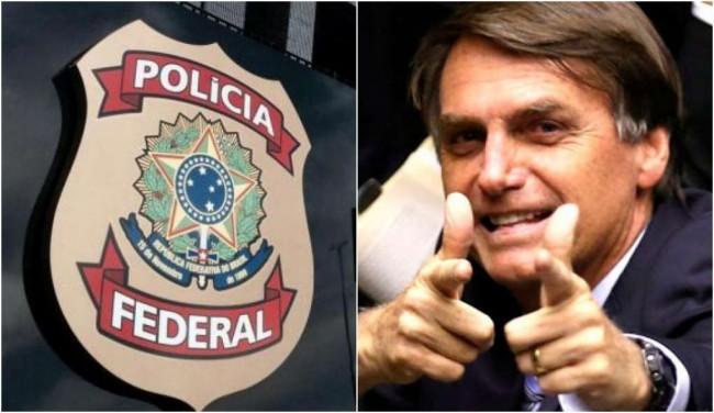 A PF trabalha de forma implacável no governo Bolsonaro - Fotomontagem