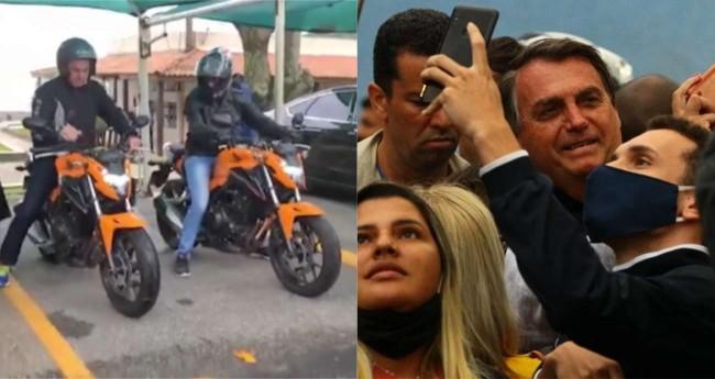 Jair Bolsonaro no Guarujá