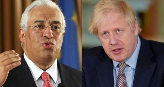Fotomontagem: António Costa e Boris Johnson