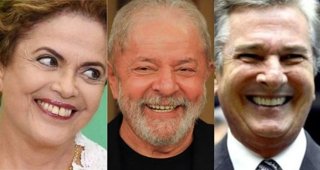 Fotomontagem: Dilma Rousseff, Lula da Silva e Fernado Collor