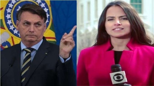 Fotomontagem: Jair Bolsonaro e Raquel Krähenbühl
