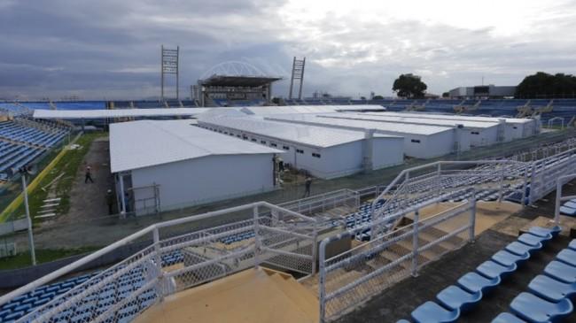 Hospital Emergencial de Campanha do Estádio Presidente Vargas, em Fortaleza — Foto: Divulgação