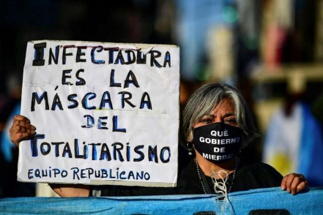 Argentinos protestam - Reprodução internet