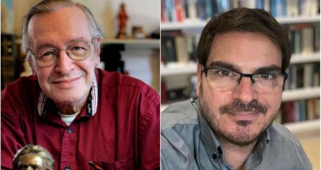 Fotomontagem: Olavo de Carvalho e Rodrigo Constantino