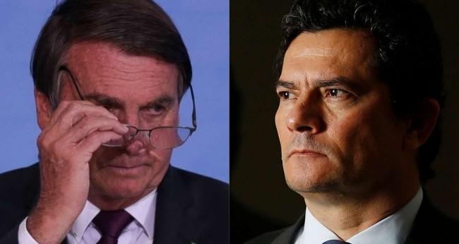 Fotomontagem: Jair Bolsonaro e Sérgio Moro