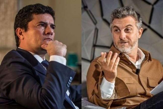 Fotomontagem: Sérgio Moro e Luciano Huck