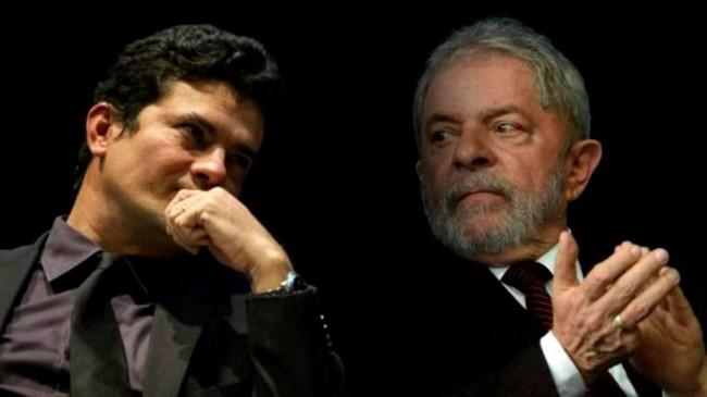 Fotomontagem: Sérgio Moro e Lula